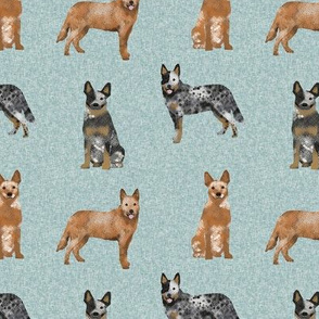 australian cattle dog pet quilt b cheater quilt coordinate fabric