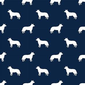 australian cattle dog pet quilt b cheater quilt silhouette coordinate fabric