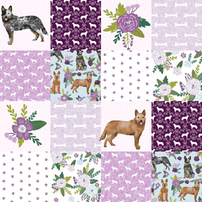 australian cattle dog pet quilt c cheater quilt wholecloth fabric