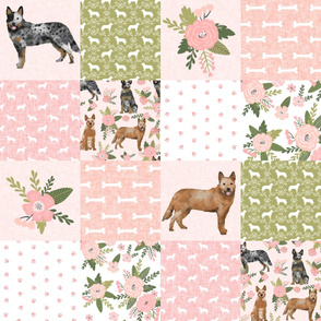 australian cattle dog pet quilt d cheater quilt wholecloth fabric