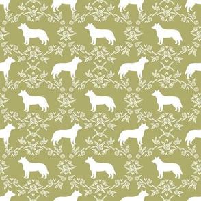 australian cattle dog pet quilt d cheater quilt silhouette coordinate fabric