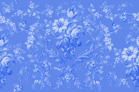 Faded Rococo deep ink fabric by lilyoake on Spoonflower - custom fabric
