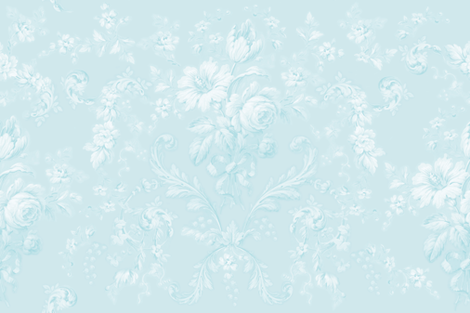 Faded Rococo faded aqua fabric by lilyoake on Spoonflower - custom fabric