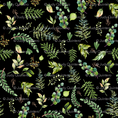 """18"""" Cub and Leaves Mix and Match - Black"""