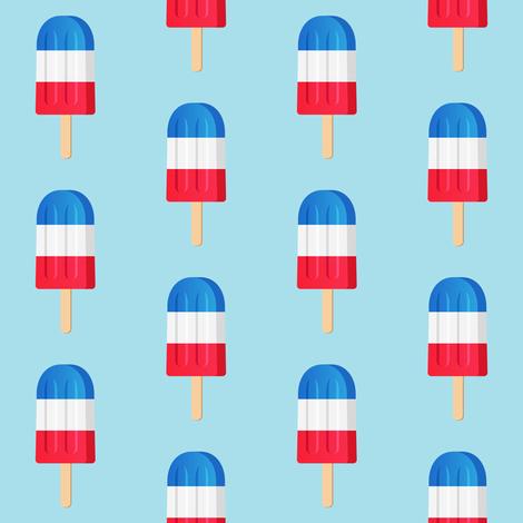 "2"" Patriotic Popsicles // Light Blue fabric by hipkiddesigns on Spoonflower - custom fabric"