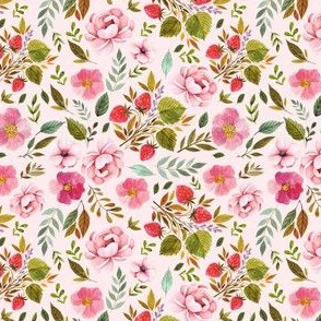 "4"" Strawberry Fields - Blush"