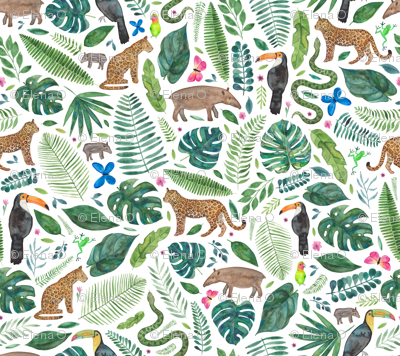 Rainforest or Jungle print