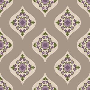 Geo-Floral Lavender