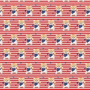 Patriotic Pomeranian Stripes S