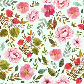 """21"""" Strawberry Fields - Minty Green"""
