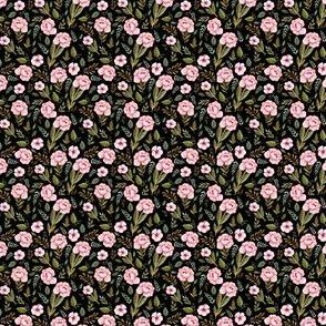 "1.5"" Strawberry Fields Roses - Black"