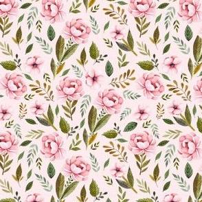 "4"" Strawberry Fields Roses - Blush"
