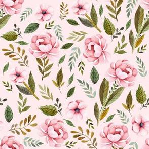"8"" Strawberry Fields Roses - Blush"