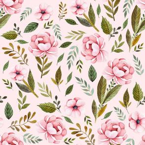 "21"" Strawberry Fields Roses - Blush"
