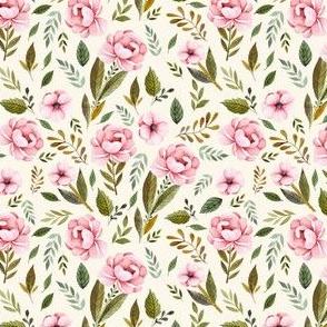 "4"" Strawberry Fields Roses - Ivory"