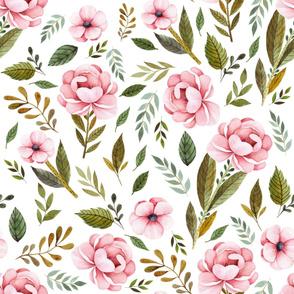 "36"" Strawberry Fields Roses - White"