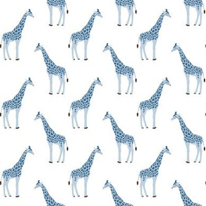 safari coordinates quilt blue and white giraffe  animals nursery