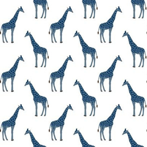 Safari coordinates giraffe navy and white animal nursery