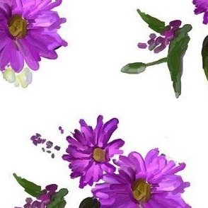 Purple Daisy Floral Design