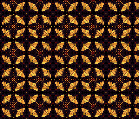 Black and Gold Boho Chic fabric by cherie on Spoonflower - custom fabric
