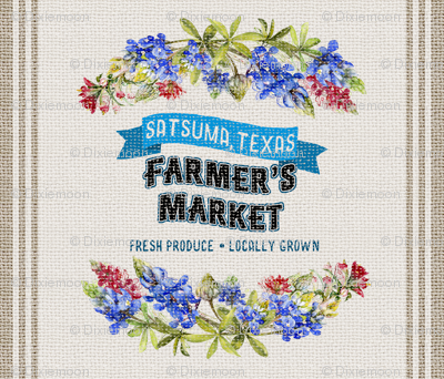 Satsuma Texas Farmers Market Washed Burlap Feed Sack
