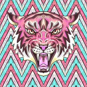 giant pink tiger chevron