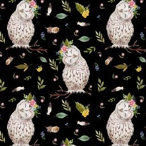 "4"" Spring Breeze Owl - Black"