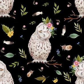 "8"" Spring Breeze Owl - Black"