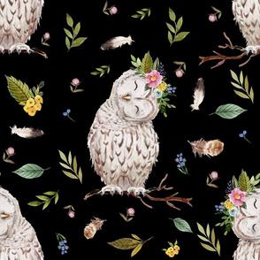 "21"" Spring Breeze Owl - Black"
