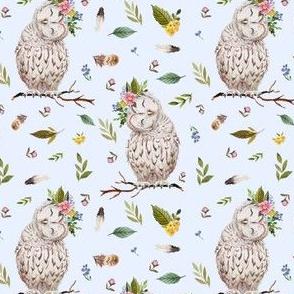 "4"" Spring Breeze Owl - Blue"