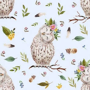 "8"" Spring Breeze Owl - Blue"
