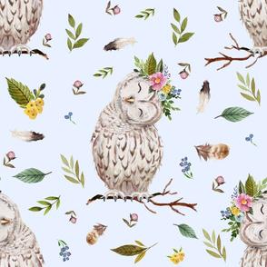 "21"" Spring Breeze Owl - Blue"