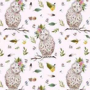 "4"" Spring Breeze Owl - Blush"