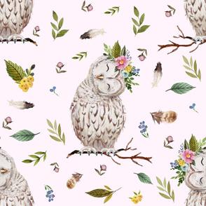 "21"" Spring Breeze Owl - Blush"