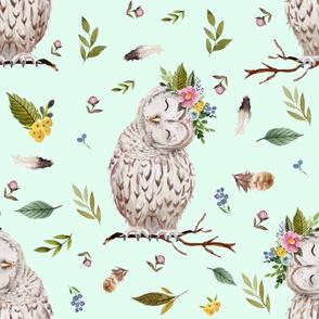 "21"" Spring Breeze Owl - Minty Green"