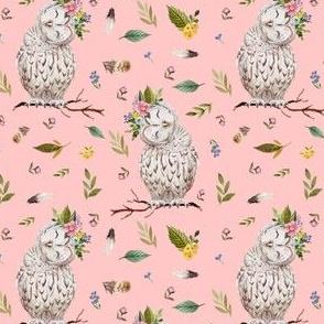 "4"" Spring Breeze Owl - Peach"
