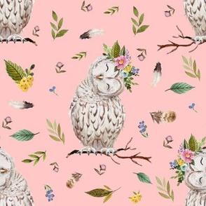 "8"" Spring Breeze Owl - Peach"
