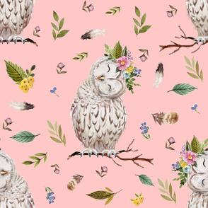 "21"" Spring Breeze Owl - Peach"