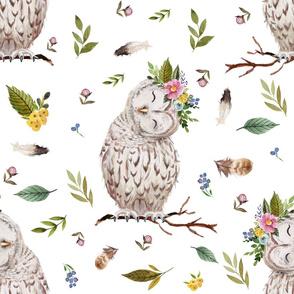 """21"""" Spring Breeze Owl - White"""