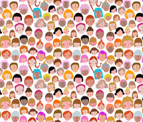 Face : The Females fabric by stamptout on Spoonflower - custom fabric