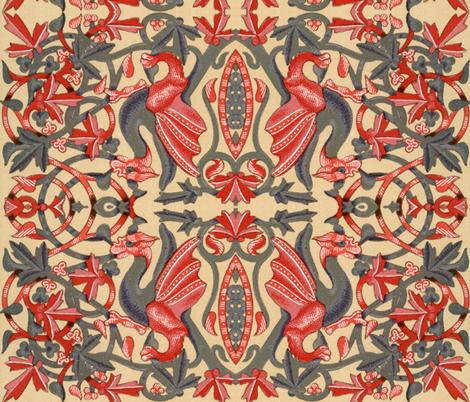 moyen age 461 fabric by hypersphere on Spoonflower - custom fabric