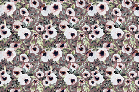 RoseBloomsRose fabric by northeighty on Spoonflower - custom fabric