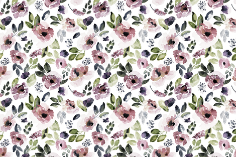 Summer Floral in Sunset fabric by northeighty on Spoonflower - custom fabric