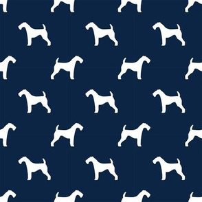 airedale terrier dog breed pet quilt b quilt silhouette coordinates dog fabric