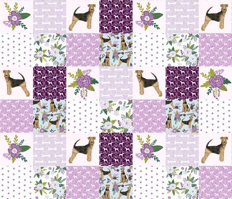 airedale terrier dog breed pet quilt c quilt wholecloth cheater quilt dog fabric fabric by petfriendly on Spoonflower - custom fabric