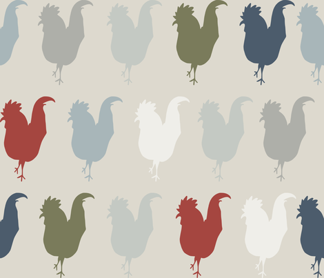 farmhouse chickens fabric by craftwithcartwright on Spoonflower - custom fabric
