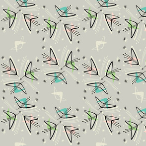 Cosmic Tulips on Pale Gray