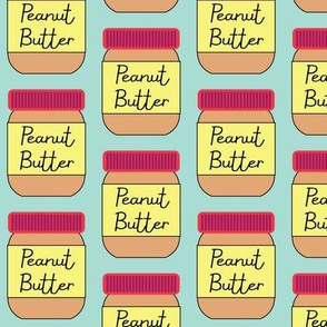 peanut-butter on-teal