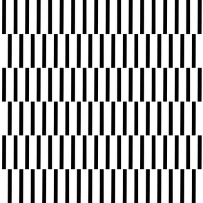 binding stripes, blk/wht-horizontal