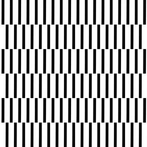 binding stripes, blk/wht-horizontal